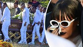 Rihanna na pohřbu oplakávala bratrance.