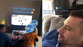 Tomáš Plekanec si shledání se syny užíval naplno. Unikátní záběry z návštěvy pořídila teta Lucie Šafářová