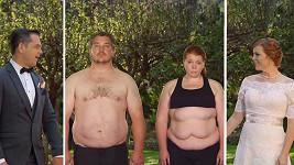 Obezní pár před svatbou společně shodil 85 kilogramů.