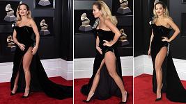 Zpěvačka Rita Ora (27) na 60. ročníku cen Grammy v New Yorku
