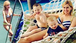 Dýdžejka Lucca se syny na dovolené v Turecku.