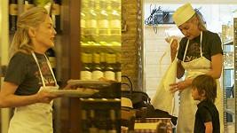 Sharon Stone v italské restauraci předvedla své kuchařské umění.