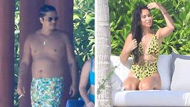 Bruno Mars s přítelkyní na dovolené.