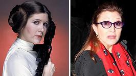 Princezna Leia po 37 letech.