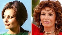 Sofia Loren v Cannes v roce 1964 a letos.