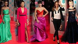 Prohlédněte si podrobně módní skvosty z udílení cen BAFTA.