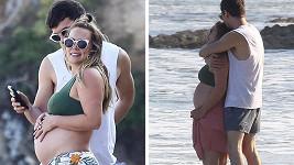 Hilary Duff si užívala den na pláži.