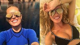 Simona Krainová se sluní v Dubaji.