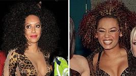Mel B v roce 1997 a dnes