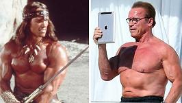 Arnold vystavoval v Cannes své tělo.