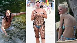 Tyto celebrity byste na pláži potkat nechtěli.