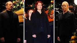 U rakve slavné herečky se vystřídali Otakar Brousek mladší, Zlata Adamovská i zdrcená Dagmar Havlová.