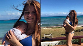 Karolina Gudasová si užívá první dovolenou ve čtyřech.