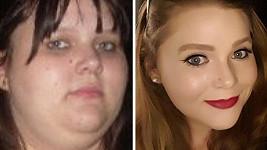 Tyto fotky od sebe dělí dva roky a 44 kilogramů.