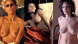 Halle Berry, Salma Hayek a Angelina Jolie se odvážily k nahé scéně ve filmech.