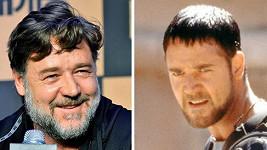 Russell Crowe se za 15 let výrazně zakulatil.