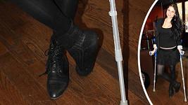 Lilian Sarah Fischerová si při tanečním tréninku ošklivě zlomila nohu.