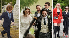 Na svatbu přijela řada hereckých kolegů z oblíbeného seriálu.