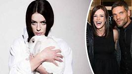 Kerestešová se svými králíčky.