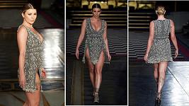 Britská reality star Olivia Buckland na této módní akci předvedla více než chtěla. Za vše mohl dlouhý rozparek šatů, které v roli manekýny předváděla.