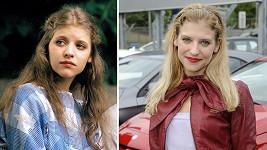 Jitka Ježková v roce 1997 a dnes