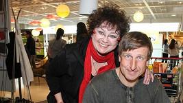 Jana Boušková s manželem Václavem Vydrou.