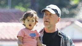 Bruce Willis s dcerkou Mabel.