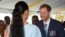 Princ Harry se seznámil s nejslavnější barbadoskou rodačkou Rihannou.