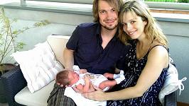 Lucie s manželem a dcerkou Sofinkou.