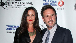 David Arquette se snoubenkou Christinou McLarty.
