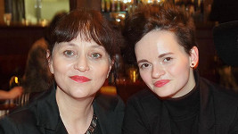 Alena Mihulová s dcerou