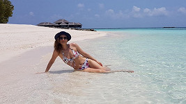 Klára Doležalová posílá pozdravy z Malediv