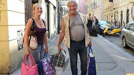 Zdeněk Žák s dcerou