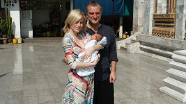 Leona Machálková s Bořkem Šípkem a malým Arturem