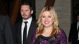 Kelly Clarkson s partnerem Brandonem Blackstockem.