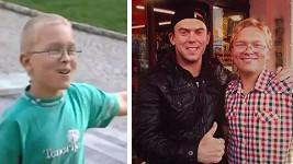 Chlapec, co si přišel hrát s kamením, před 5 lety a dnes s Láďou Hruškou