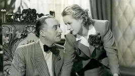 Manekýnka a filmová i divadelní herečka Eliška Pleyová měla smutný konec. Tady je s Oldřichem Novým na snímku z filmu Dědečkem proti své vůli (1939).