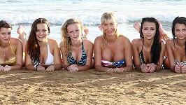 Dominika Mesarošová a její nastávající modelky způsobily rozruch na pláži.
