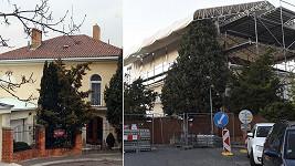 Vila Karla Gotta před časem a nyní po zahájení rekonstrukce