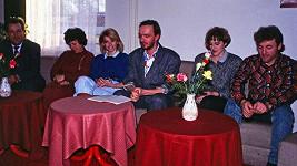 Iveta Bartošová s rodinou na setkání fanklubu v Rožnově pod Radhoštěm