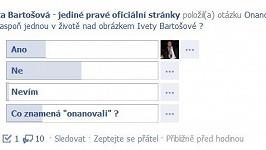 Na oficiálních stránkách Bartošové se objevila nechutná anketa.