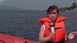 Iveta Toušlová v dobách reportérské práce pro ČT
