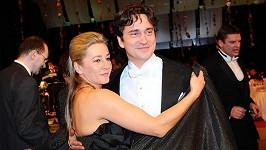 Saša Rašilov s manželkou Vandou Hybnerovou na Plese v Opeře