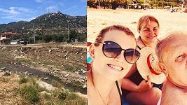 Elis Ochmanová s rodiči trávili dovolenou na Chalkidiki