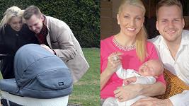 Martin Chod)r s přítelkyní Ivonou a synem Martínkem