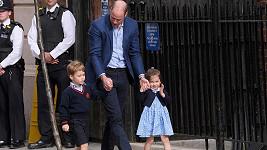 William s princeznou Charlotte a princem Georgem