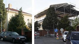 Vila Karla Gotta před přestavbou a po jejím začátku