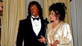 Jackie Stallone se synem Sylvesterem