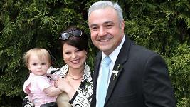 Martin Zounar s Betkou Stankovou tvořili pár už v seriálu Vyprávěj. Na snímku z roku 2013 i s její dcerou Alžbětkou.