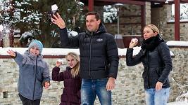 Roman Šebrle s manželkou a dětmi